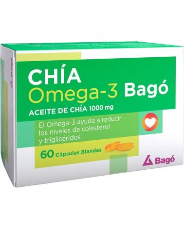 Bagó Aceite De Chia 1000 Mg Omega 3 Colesterol X 60 Capsulas