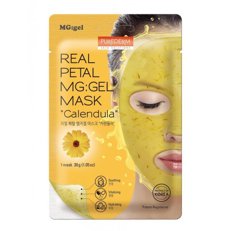 Mascarilla Real Petal Mg Gel Caléndula Purederm x 1 Un