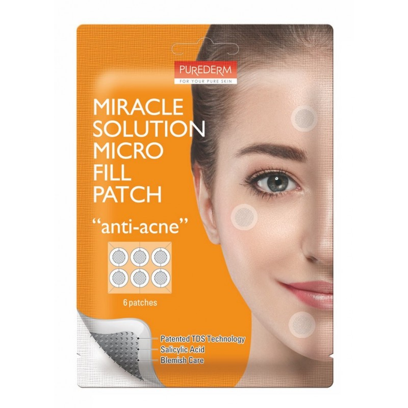 Anti Acne Miracle Solution Micro Fill Patch Purederm x 6 Parches