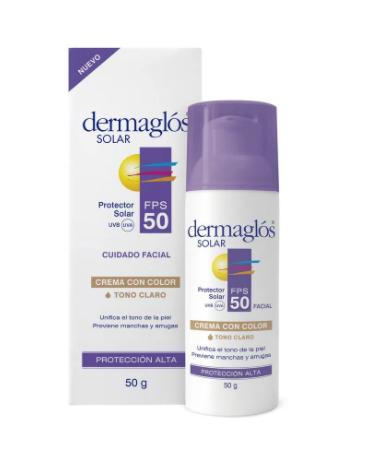 Protector Solar Facial Fps 50 Tono Medio Dermaglos x 50 ml