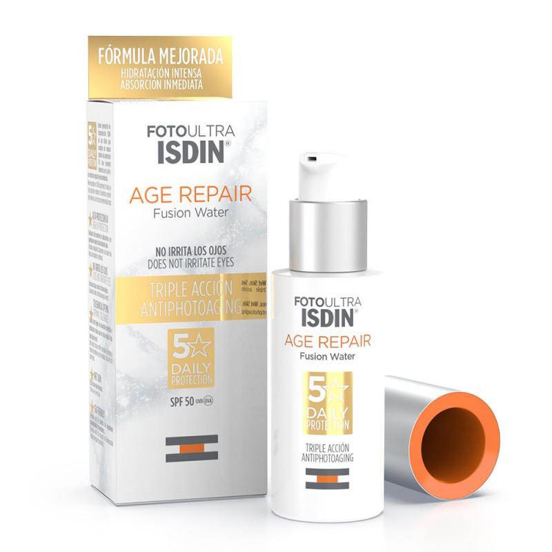Fotoprotector Ultra Age Repair Textura Water Ligera Spf 50+ Isdin x 50 ml