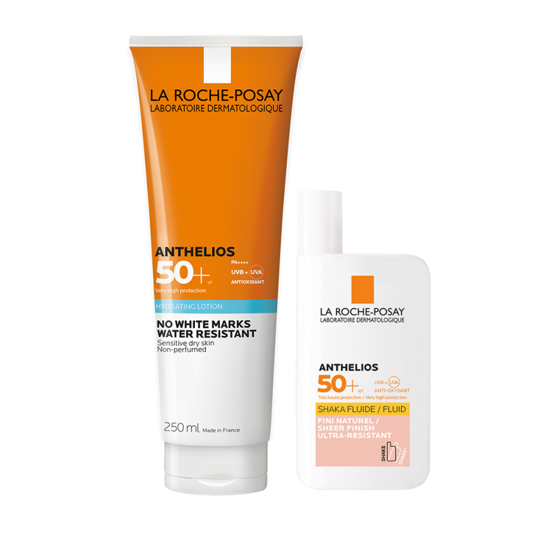 Combo Anthelios Xl Fps50+ Leche x 250 ml + Anthelios Fluido Con Color Invisible Spf 50 x 50 ml