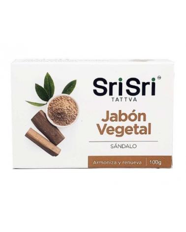 Jabón 100% Vegetal Sándalo Sri Sri x 100 gr