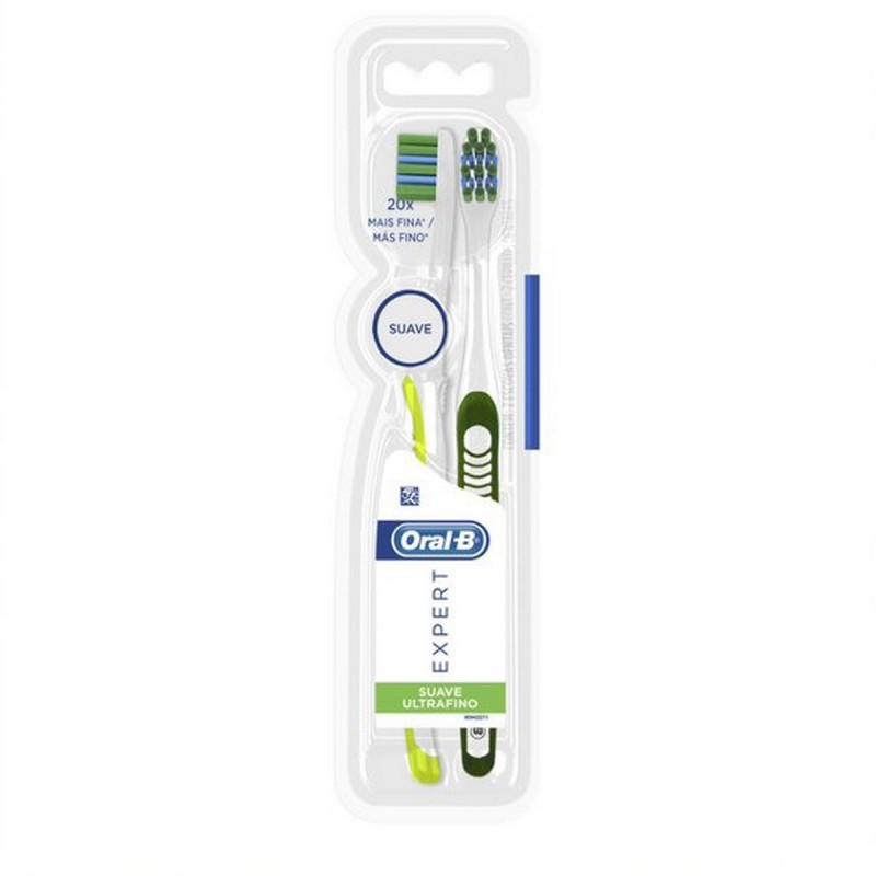 Cepillo Dental Expert Suave Ultrafino Oral-B x 2 un