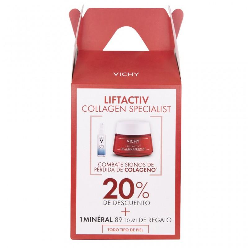 Bom Renová Tu Rutina Lifactiv collagen specialist Crema Anti Edad Vichy X 50 ML + Mineral 89 X 10 ML De Regalo