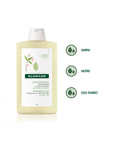 Shampoo Voluminador Leche De Almendra X 400 Ml De Klorane