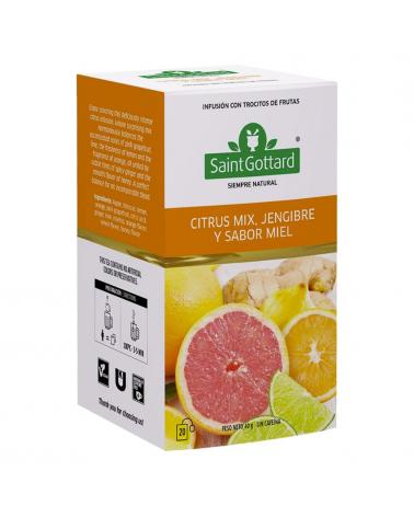 Té Citrus Mix, Jengibre y Miel Saint Gottard x 20 Sobres