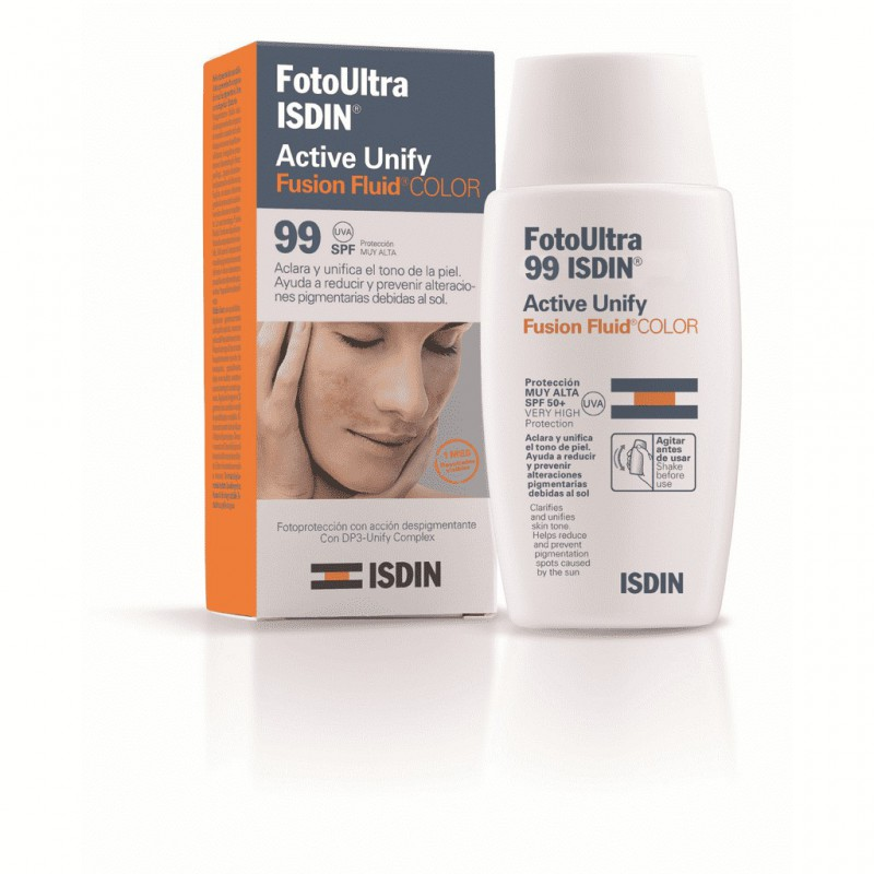 Fotoprotector Ultra Active Unify Color Fusion Fluid Spf 99 Isdin x 50 ml
