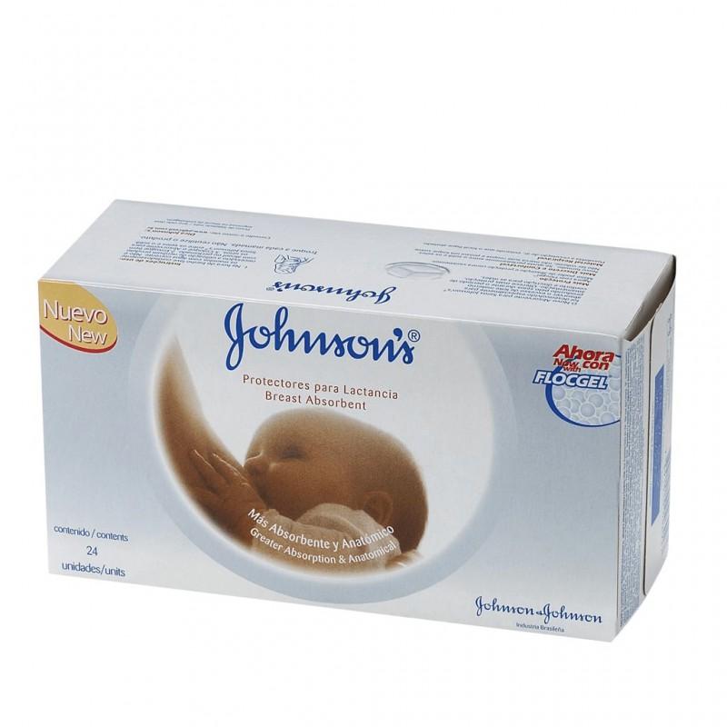 Protectores mamarios Johnson's con flocgel x 24 un