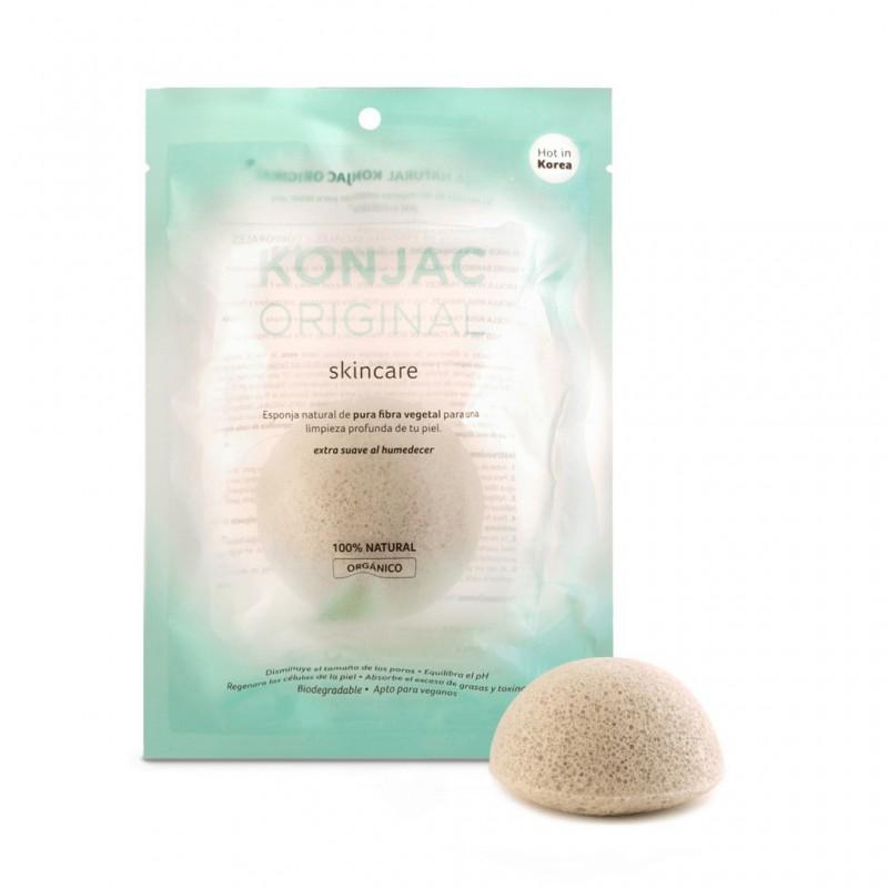 Esponja Facial Konjac Con Fina Arcilla Verde Francesa
