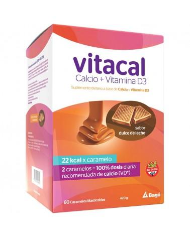 Vitacal Suplemento Dietario Caramelos Masticables Dulce de Leche x 60 Unidades