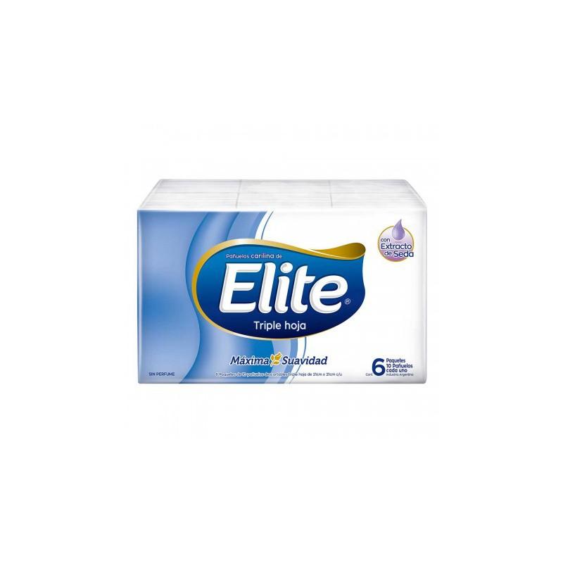 Elite Pañuelos Descartables X 6 Unidades -10 Carilinas por paquete