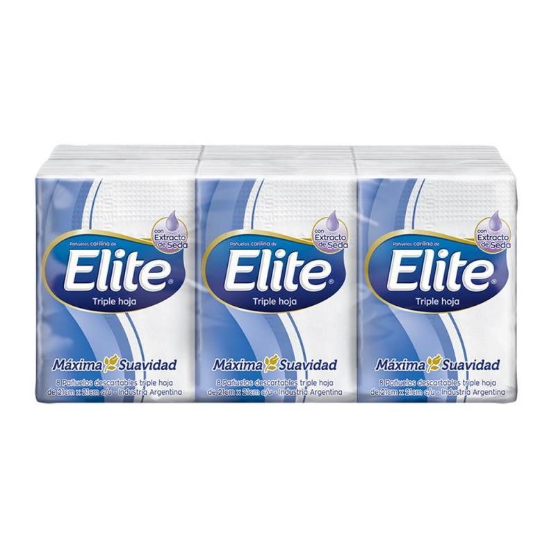 Elite Pañuelos Mini Pocket 8 Unidades