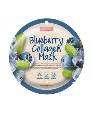 Mask Collagen Blueberry Purederm x 1 Un