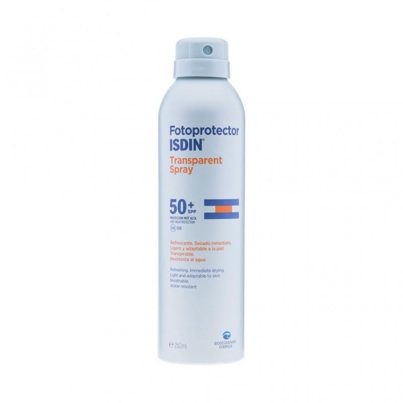 Aerosol Fotoprotector Isdin Spray Trasparente SPF 50+ x 250 ml
