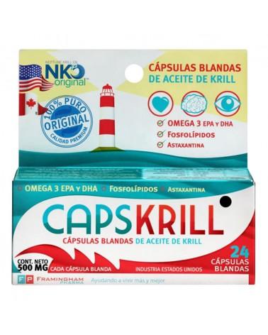 Cápsulas de Aceite de Krill Capskrill x 24 Un