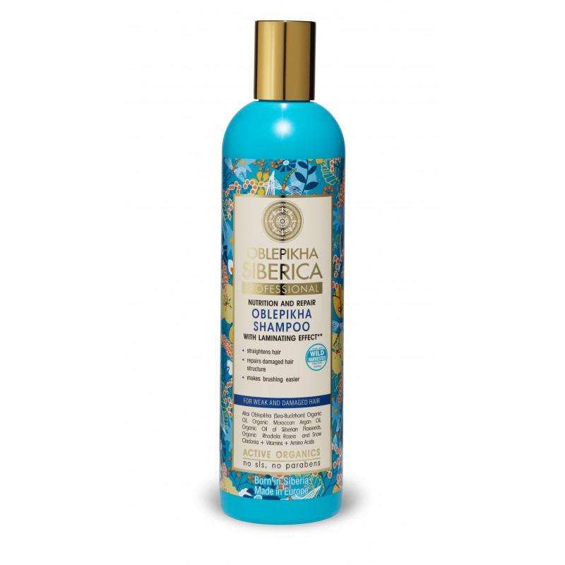 Shampoo Oblepikha Para cabello débil y dañado Natura Siberia x 400 ml
