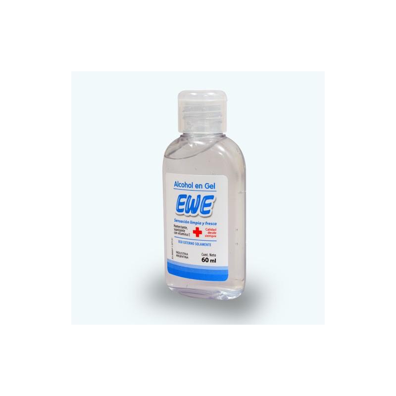 Higienizador Manos / Alcohol En Gel Ewe x 60 ml