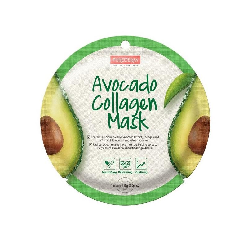 Mask Avocado Collagen Purederm x 1 Un