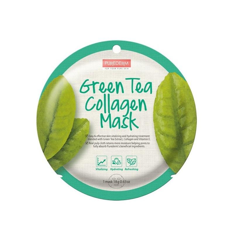Mask Collagen Green Tea Purederm x 1 Un